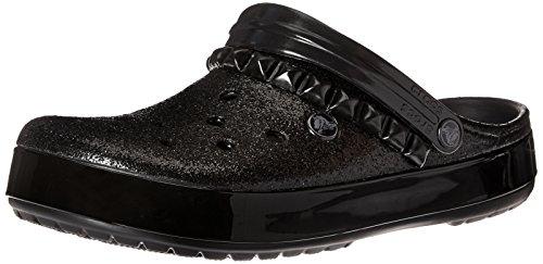 Crocs Crocband Studded Clog, Sandali Punta Chiusa Unisex Adulto, Nero, 37/38 EU