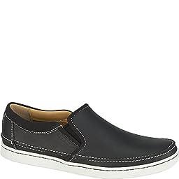 Sebago Men\'s Ryde Slip-On,Black Leather,US 14 M