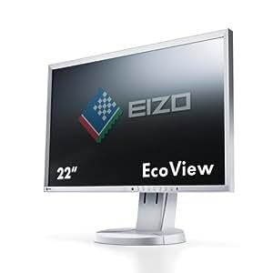 EIZO EV2216WFS-GY 55,9 cm (22 Zoll) LED-Monitor (USB, VGA, DVI, DisplayPort, 5ms Reaktionszeit) grau