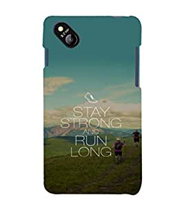 printtech Cool Quotes Life Back Case Cover for MicromaxBolt D303