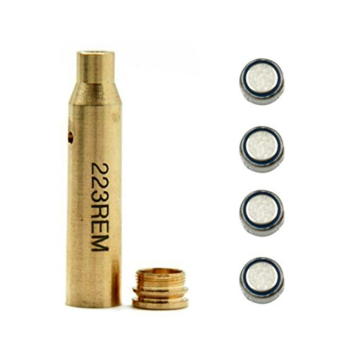 Cheapest Prices! Pinty Laser Red Dot for Scopes 223 REM Bore Sight Cartridge Sight 5.56 Nato
