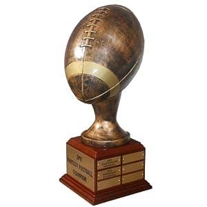 """Amazon.com: Fantasy Football Trophy - Football God 16"""": Sports"""