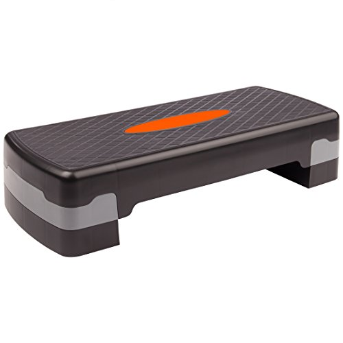 Ultrasport Aerobic Step/Stepper/Aerobic Fitness Stepper, Altezza Regolabile, Orange/Nero