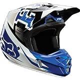 Fox Racing Anthem Men's V2 Motocross Motorcycle Helmet - Blue / Large