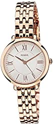 Fossil Jacqueline Analog White Dial Womens Watch - ES3799
