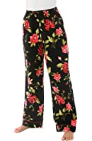 Del Rossa Women's 100% Cotton Flannel Pajama Pants - Sleep Bottoms