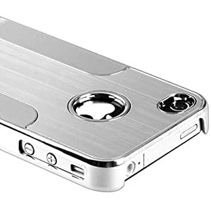 Aimo Wireless Ip-case Premium Chrome Aluminum Hard Case for Apple Iphone 4/4g/4s -Silver