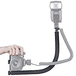 Neewer® Flexible Flash Cord Aluminum Flexible Arm to Support Off-camera Flash and Led to Work at Different Angle