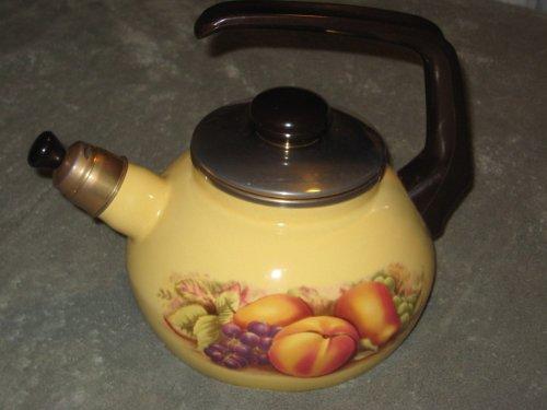 John Aynsley Orchard Gold Heavy Metal Enamel Tea Kettle Teapot (Aynsley Teapot compare prices)
