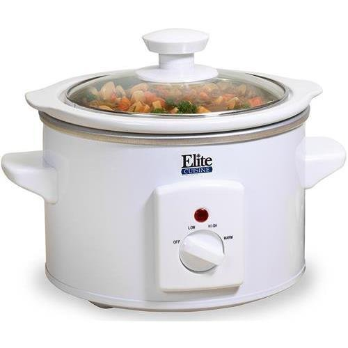 MaxiMatic Elite Cuisine Mini Slow Cooker #MST-250XW - 1.5 Quart Capacity - White (Cuisines Crock Pot compare prices)