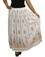 BombayFashions Women's Print Bohemian Peasant Hippie Gypsy India Lined Skirt