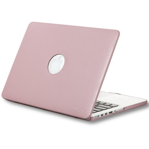Review:  Kuzy - Retina 13-Inch BABY ROSE PINK LEATHER Hard Case for MacBook Pro 13.3