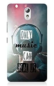 Back Cover for Lenovo Vibe P1 MUSIC LOVE