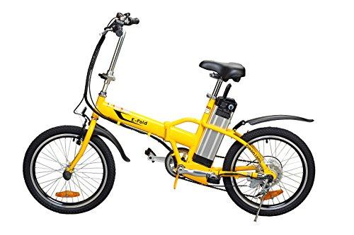 Yukon Trail Bicycles Folding Electric Bike, Yellow, 20-Inch/One Size