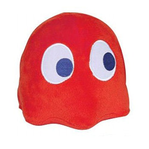 Plush Pac-man Ghost with Sound Soft Toy - Blinky (Red) 4""