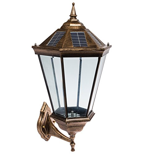 Outdoor Wall Light Accessories: Solar 18 LED Outdoor Garden Wall Mount Lamp Post Light
