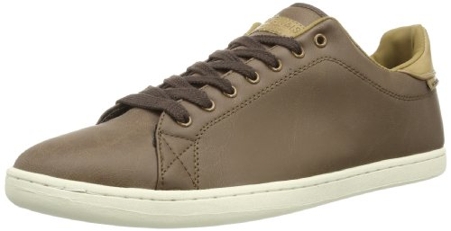 Jack and Jones Mens JJ Brooklyn Low-Top 12062151 Slate Black/Brown 10 UK, 44 EU