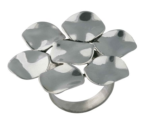 Wavy Disc Flower Ring From the Wavy Discs Collection By Mauricio Serrano Jewelry