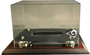 NFL St. Louis Rams Zenith Football Display-Mahogany by Caseworks