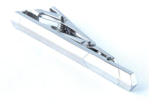 Enigma Silver Arrow Edge Tie Clip with Gift Box