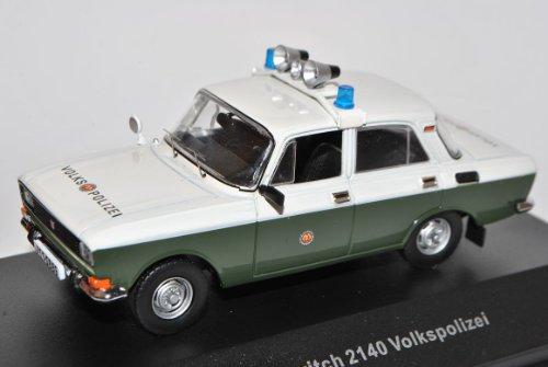 Moskwitch 2140 Volkspolizei Polizei Grün CCC076 1/43 Ist Ixo Modell Auto