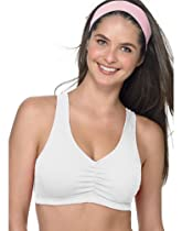 Hanes Sport Low Impact Sports Bras - 2 Pack (Black/White, 42)
