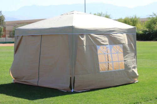 Palm Springs 10 x 10 Pop-up SAND Canopy w/4 Side