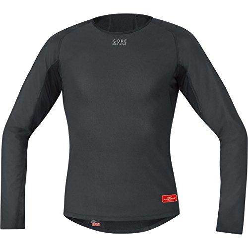 gore-bike-wear-base-layer-windstopper-termo-camiseta-de-ciclismo-para-hombre-color-negro-talla-m