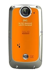 GE DV1-CO Waterproof/Shockproof 1080p Pocket Video Camera (Citrus Orange)