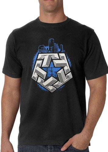 Tribal Gear T- Star City Men's T-Shirt (Black) #45 tribal gear men s hello t shirt black