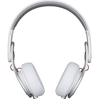 Beats by Dr. Dre Mixr Lightweight DJ Headphones (White) Bundle with Beats Cable with Microphone and Custom Designed Zorro Sounds Cleaning Cloth