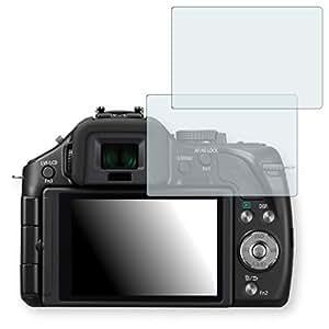 2x Golebo Crystal protection d'écran pour Panasonic Lumix DMC-G5 - (Clair comme du cristal, Montage sans bulles, A retirer simplement)