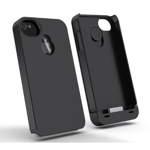 Maxboost Hybrid Detachable Battery Case For Iphone 4S & Iphone 4 - Black/Black (1900 Mah, Fits All Versions Of Iphone 4 & 4S)