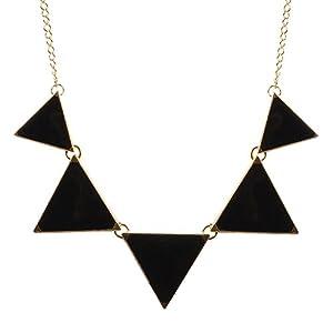 Amazon.com: Black Necklace Triangle Necklace Bib Necklace