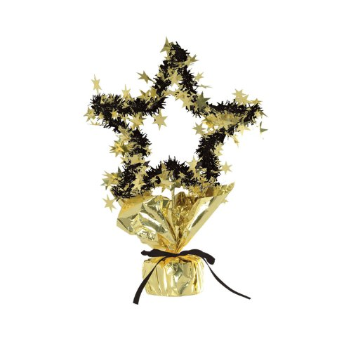 Star Gleam 'N Shape Centerpiece (gold) Party Accessory  (1 count) (1/Pkg)
