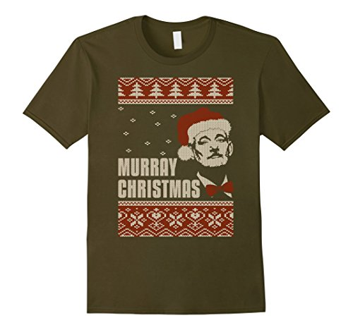 murray-christmas-ugly-sweater-t-shirt-male-xl-olive