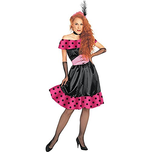 [Polka Dot Saloon Girl Adult Costume] (Saloon Girl Adult Womens Costumes)