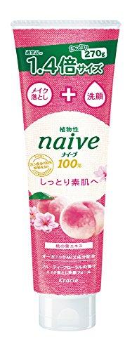 ナイーブ メイク落とし洗顔桃の葉 大容量 270g