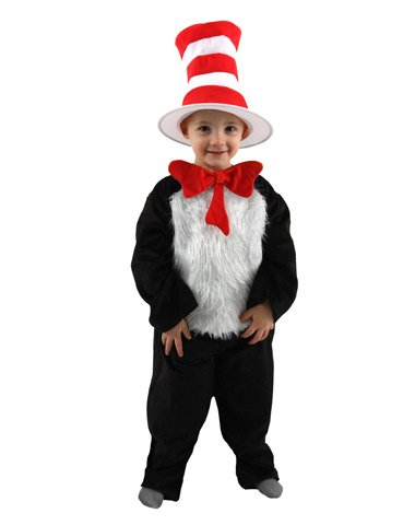 Elope Inc Unisex Child Cat In The Hat Toddler Costume