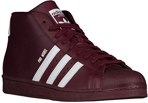 Adidas PRO MODEL mens fashion-sneakers B39370_10 - Maroon/White/Maroon
