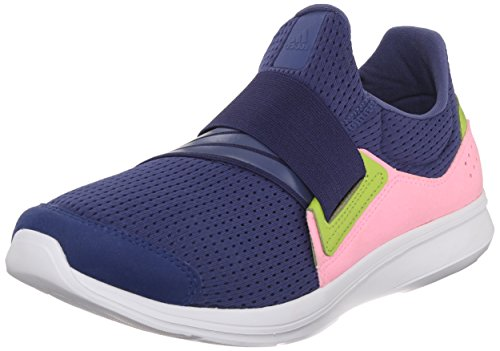 Adidas Performance Women's Lite Slip-On Running Shoe,Raw Purple/Raw Purple/Pink,8.5 M US