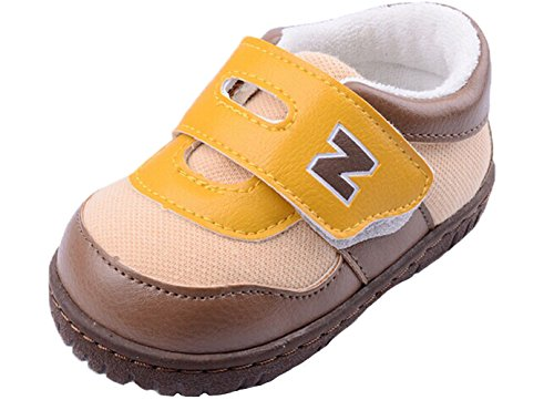 Baby World Wholesale Baby Boy Classic Handson British Style Pre Walker Shoes (Coffee,Size 5) front-1047418