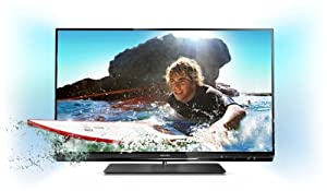 Philips 47PFL6007K/12 119 cm (47 Zoll) Ambilight 3D LED-Backlight-Fernseher  (Full-HD, 400 Hz PMR, DVB-T/C/S2, CI+, WiFi, Smart TV) schwarz