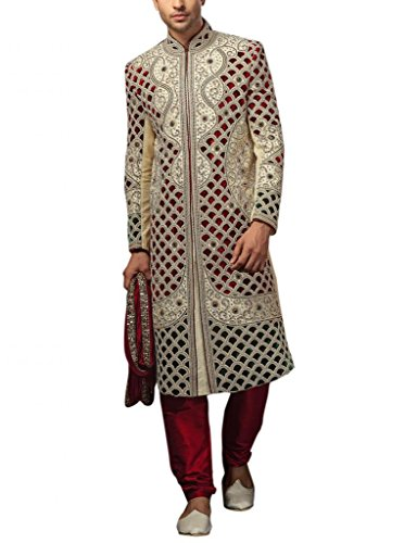 Readiprint Men Silk  Satin Jacquard Sherwani