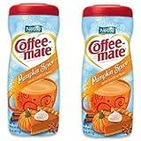 Nestle Coffee Mate Pumpkin Spice Creamer 15-oz Coffeemate Non Dairy Creamer (Pack of 2)