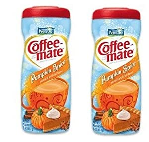 Nestle Coffee Mate Pumpkin Spice Creamer 15-oz Coffeemate Non Dairy Creamer (Pack of 2)