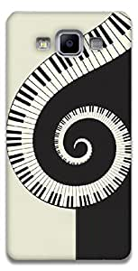 The Racoon Lean printed designer hard back mobile phone case cover for Samsung Galaxy A5. (Piano Swir)