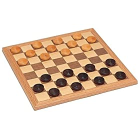 Wood Expressions Wood Checkers Set
