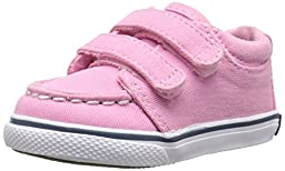 Sperry Top-Sider Hallie Crib H and L Boat Shoe (Infant/Toddler), Pink Salt Wash, 4 M US Toddler