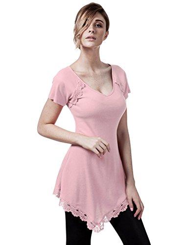 elbon-boutique-womens-sleeve-round-neck-lace-heming-asymmetrical-tunic-shirts-babypink-x-large